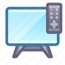 tv, screen, remote, entertainment