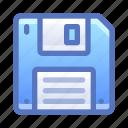 diskette, save, floppy, disk