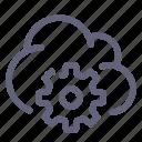 cloud, internet, settings, options
