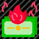 burning, business, dollar, money, startup