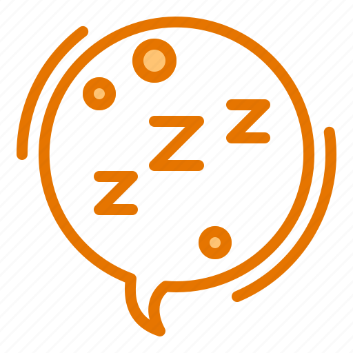 bed, chat, rest, silent, sleep icon