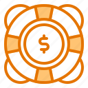 drop, finance, help, inflation, money icon