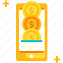 generate profit, income, online, passive, payment, smartphone icon