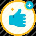 approved, good, guarantee, like, social media, thumb, up