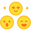 emoji, emoticon, engagement, media, reactions, social, viral