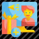 present, giveaway, gift, marketing, souvenir, memento, keepsake icon