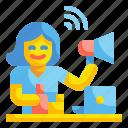 blogger, celebrity, communications, influencer, marketing, megaphone, people
