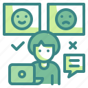 critic, evaluation, feedback, marketing, rating, review, smileys icon