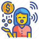 cash, change, coin, currency, dolar, finance, money icon
