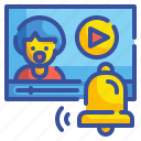 alarm, alert, bell, message, notification, notify, warning icon