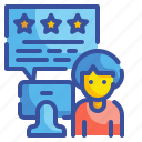 customer, feedback, rate, rating, review, satisfaction, stars