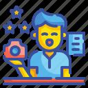 profession, marketing, technician, researcher, analyzer, scientist, specialist icon