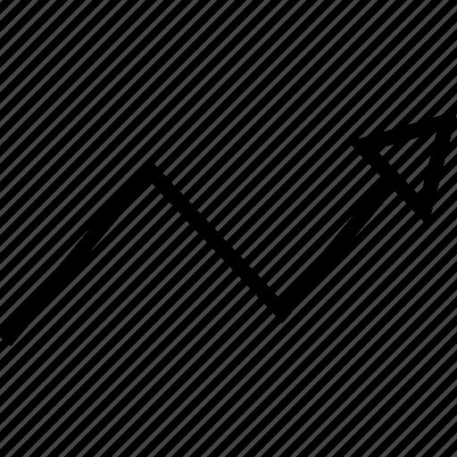 analytics, arrow, info icon