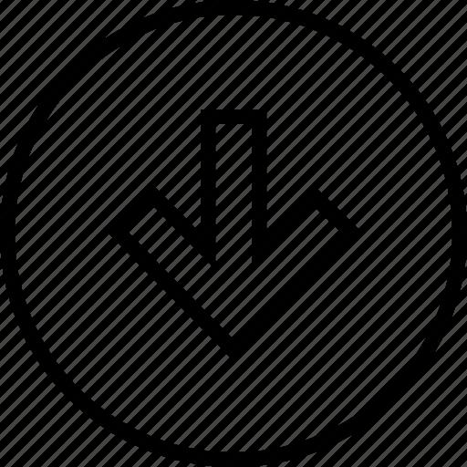 arrow, down, graphics, info icon