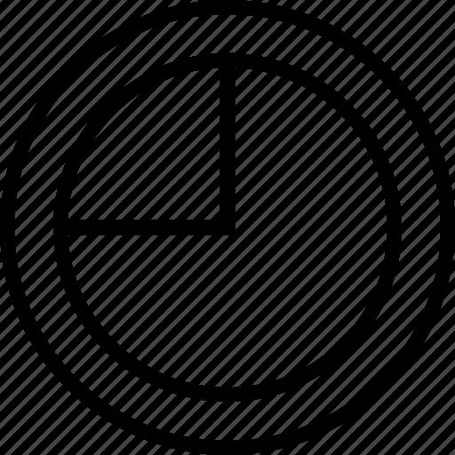 five, info, pie, seventy icon