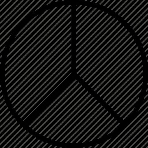 Data, divide, pie, three icon - Download on Iconfinder
