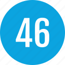 count, fourty, interface, number, six, track icon