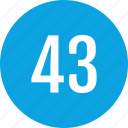 count, fourty, interface, number, three, track icon