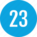 count, interface, number, three, track, twenty icon