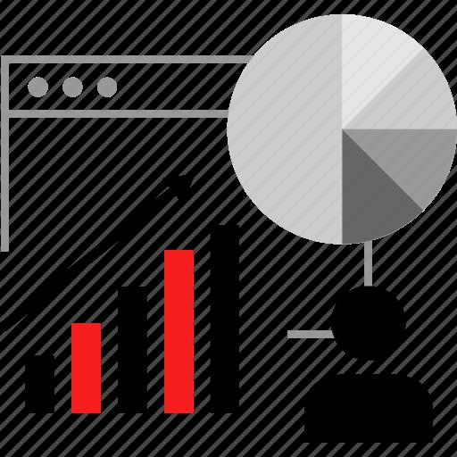 analytics, data, user, web icon