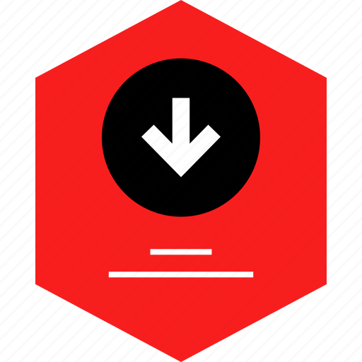 down, download, user, web icon