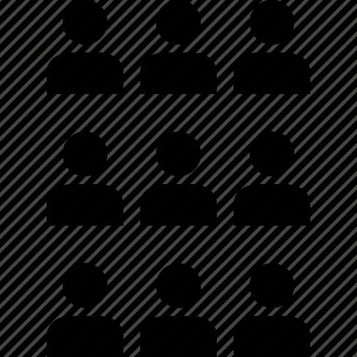 data, graphics, info, nine, person, users icon