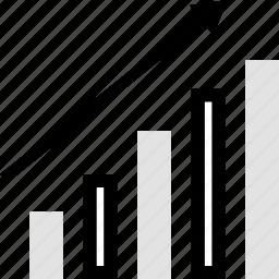 analytics, gfx, graphic, high, information, up icon