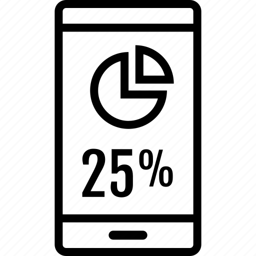 data, information, percent, quarter icon