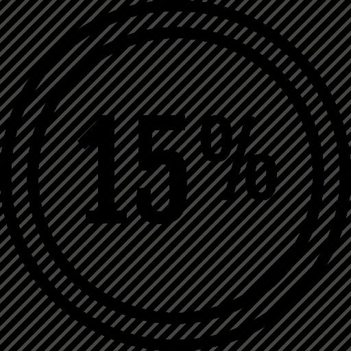data, fifteen, information, percent icon