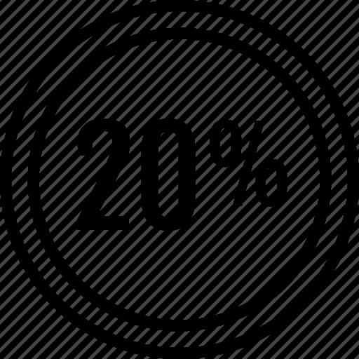 data, percent, twenty icon
