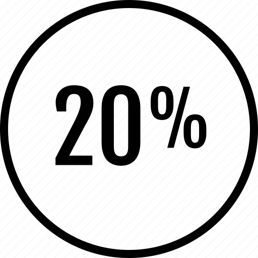 Info, percent, twenty icon - Download on Iconfinder