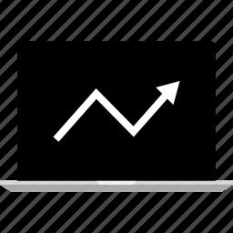 analytics, arrow, gfx, graphic, information, up icon