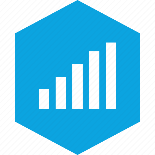analytics, data, gfx, graphic, hex, information icon