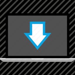 analytics, down, download, gfx, graphic, information icon