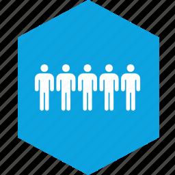 analytics, five, gfx, graphic, hex, information icon