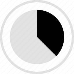 analytics, gfx, graphic, information, one, third icon