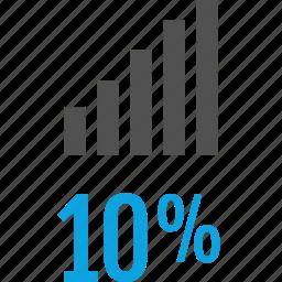 analytics, bars, gfx, graphic, information, ten icon
