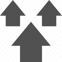 analytics, gfx, graphic, information, three, up icon
