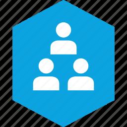 analytics, gfx, graphic, information, three, users icon