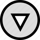 arrow, down, download, pointer, pointing icon