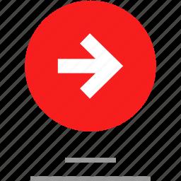 arrow, data, right, web icon