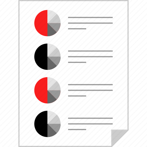 analytics, chart, form, page icon