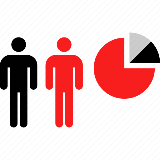 analytics, chart, two, users icon
