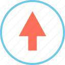 arrow, menu, point, up icon