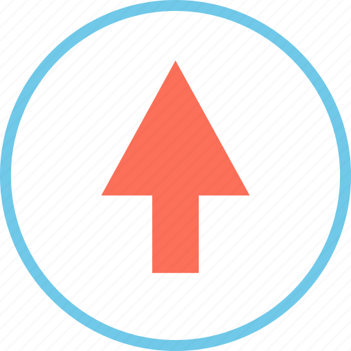 arrow, menu, point, up icon