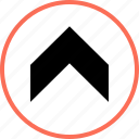 arrow, navigation, point icon