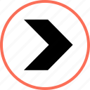 arrow, go, navigation, point icon