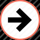 arrow, forward, point