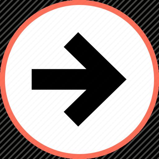 arrow, forward, point icon