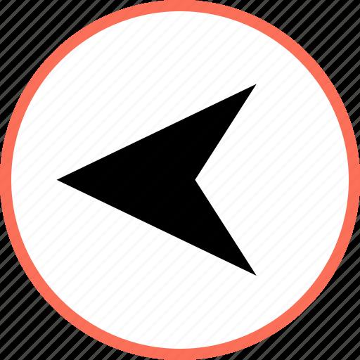gps, left, navigation icon
